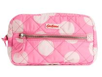 CathKidston 415675 Quilted Double Zip Cosmetic Bag Pink