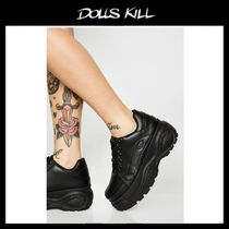 関税送料込*DOLLS KILL*MIDNIGHT LINK IN BIO CHUNKY SNEAKERS