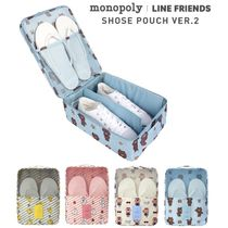 LINE FRIENDS(ラインフレンズ) トラベルポーチ ★monopoly×LINE FRIENDS★SHOES POUCH ver.2【追跡送料込】