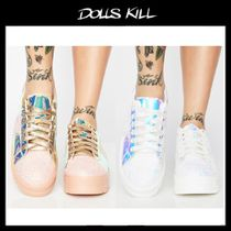関税送料込*DOLLS KILL*COSMIC CLIQUE HOLOGRAM SNEAKERS