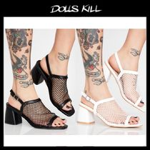 関税/送料込*DOLLS KILL*WICKED MESH FETISH HEELED MULES
