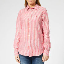 Polo Ralph Lauren Women's Stripe Linen Shirt