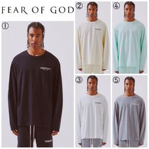 【FEAR OF GOD】☆最新作☆FOG Essentials Boxy Logo LS T-Shirt