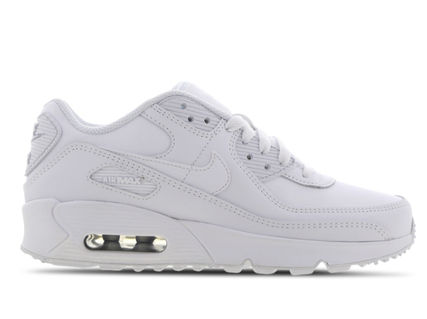 Nike キッズスニーカー 大人もOK ★限定セール【NIKE】Air Max 90 LEATHER★WHITE★(3)