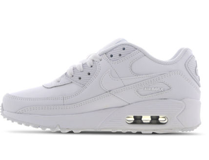 Nike キッズスニーカー 大人もOK ★限定セール【NIKE】Air Max 90 LEATHER★WHITE★(4)