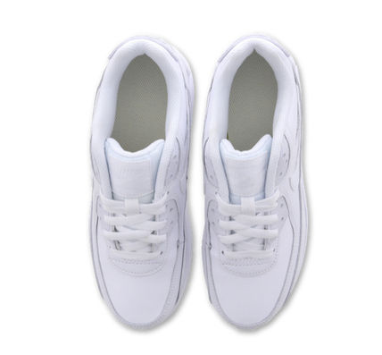 Nike キッズスニーカー 大人もOK ★限定セール【NIKE】Air Max 90 LEATHER★WHITE★(6)