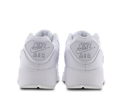 Nike キッズスニーカー 大人もOK ★限定セール【NIKE】Air Max 90 LEATHER★WHITE★(7)