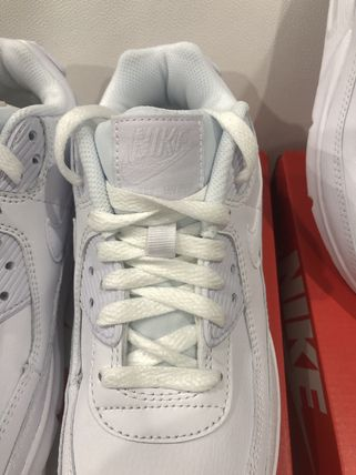 Nike キッズスニーカー 大人もOK ★限定セール【NIKE】Air Max 90 LEATHER★WHITE★(13)