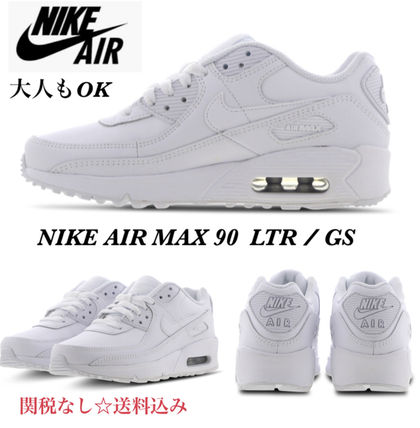 Nike キッズスニーカー 大人もOK ★限定セール【NIKE】Air Max 90 LEATHER★WHITE★