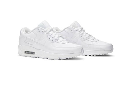 Nike キッズスニーカー 大人もOK ★限定セール【NIKE】Air Max 90 LEATHER★WHITE★(9)