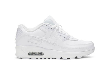 Nike キッズスニーカー 大人もOK ★限定セール【NIKE】Air Max 90 LEATHER★WHITE★(10)