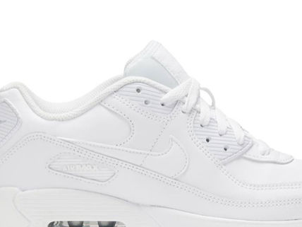 Nike キッズスニーカー 大人もOK ★限定セール【NIKE】Air Max 90 LEATHER★WHITE★(11)