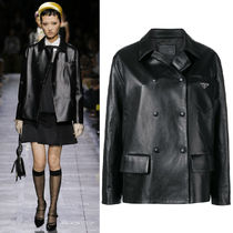 PR1990 LOOK15 DOUBLE BREASTED LEATHER JACKET