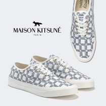 【MAISON KITSUNE】All-Over Rectangle Laced Canvas Sneaker