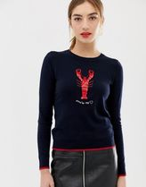 Oasis sweat with lobster detail in navy