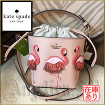 在庫★KATE SPADE BY THE POOL FLAMINGO PIPPA バケツ型バッグ