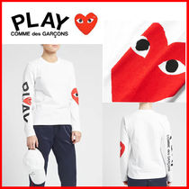 【COMME DES GARCONS PLAY】 ビッグハートロゴ長袖Tシャツ