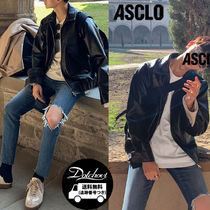 [ ASCLO ] Leather Blouson (2color)  MH111  / 追跡付
