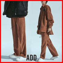 ★韓国の人気★【ADD】★CORDUROY WIDE PANTS★BROWN★