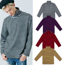BTS SEVENTEEN着用 韓国 [CLIF] TURTLE NECK STRIPE TEE 4COLOR