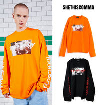 SHETHISCOMMA(シディスコンマ) Tシャツ・カットソー BTS着用 [SHETHISCOMMA] NEW GOOD DAY T (OVER SLEEVE) 2COLOR