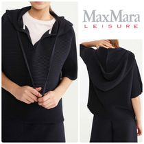 [ Max Mara Leisure ] Pleated Jersey Blouse (フード付)