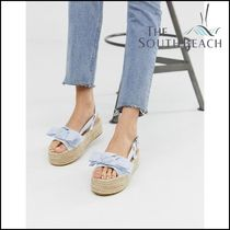 【SOUTH BEACH】 Exclusive chambray striped flatform