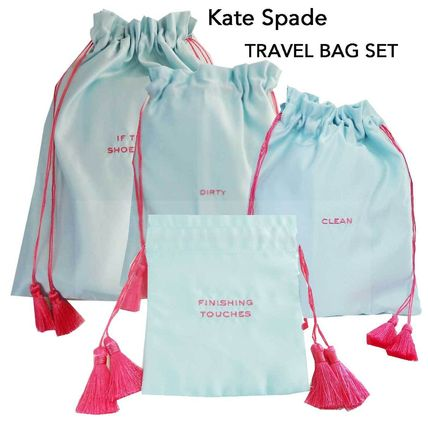kate spade new york トラベルポーチ 即納Kate spadeNY IF THE SHOE FIT トラベルバック4枚セット