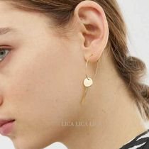 国内発送ASOS DESIGN hoop earrings with disc and chain tassel