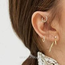 国内発送ASOS DESIGN front and back earrings with crystal