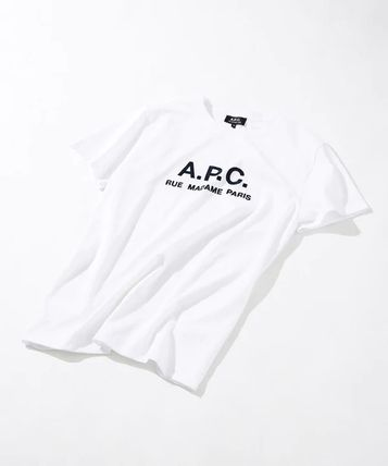 A.P.C. Tシャツ・カットソー 【日本限定】A.P.C. T-SHIRTS JIMMY RUE MADAME ロゴTシャツ(4)