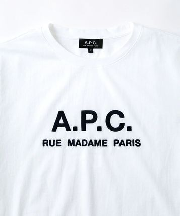 A.P.C. Tシャツ・カットソー 【日本限定】A.P.C. T-SHIRTS JIMMY RUE MADAME ロゴTシャツ(6)