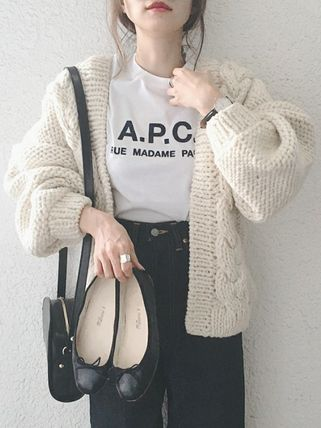 A.P.C. Tシャツ・カットソー 【日本限定】A.P.C. T-SHIRTS JIMMY RUE MADAME ロゴTシャツ(8)