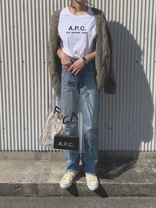 A.P.C. Tシャツ・カットソー 【日本限定】A.P.C. T-SHIRTS JIMMY RUE MADAME ロゴTシャツ(10)