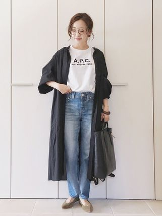 A.P.C. Tシャツ・カットソー 【日本限定】A.P.C. T-SHIRTS JIMMY RUE MADAME ロゴTシャツ(12)