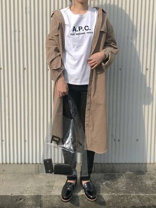 A.P.C. Tシャツ・カットソー 【日本限定】A.P.C. T-SHIRTS JIMMY RUE MADAME ロゴTシャツ(13)