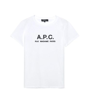 A.P.C. Tシャツ・カットソー 【日本限定】A.P.C. T-SHIRTS JIMMY RUE MADAME ロゴTシャツ(2)