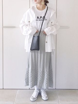 A.P.C. Tシャツ・カットソー 【日本限定】A.P.C. T-SHIRTS JIMMY RUE MADAME ロゴTシャツ(15)