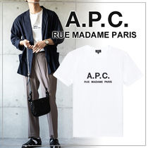 A.P.C.(アーペーセー) Tシャツ・カットソー 【日本限定】A.P.C. T-SHIRTS JIMMY RUE MADAME ロゴTシャツ