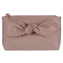 ★TED BAKER★Milah レザー メイクアップポーチ / Dusky Pink