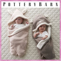 送料関税込*PotteryBarn*Hooded Forest Friends Baby Blankets
