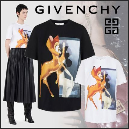 GIVENCHY Tシャツ・カットソー GIVENCHYジバンシィ19SSバンビプリント コットンTシャツ*2カラー