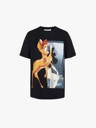 GIVENCHY Tシャツ・カットソー GIVENCHYジバンシィ19SSバンビプリント コットンTシャツ*2カラー(2)