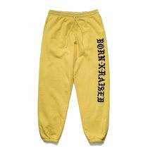 【BornxRaised】BXR EMBROIDERED SWEATS: MUSTARD YELLOW
