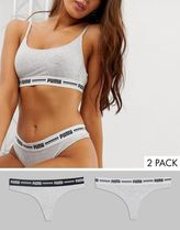 Puma iconic string 2 pack thong in grey