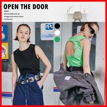 ☆人気☆【OPEN THE DOOR】☆ACIDITY-BACK HOLE SLEEVELESS☆3色