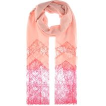 【SALE!!】Valentino Cashmere-blend and lace scarf