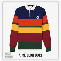 【AIME LEON DORE】COLOR BLOCKED RUGBY NAVY & GREEN