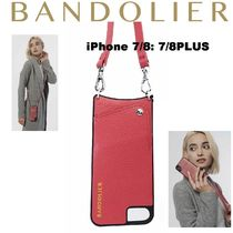 即納Bandolier携帯ショルダーiPhone7/8 /7/8+ EMMA  M.RED/SIL