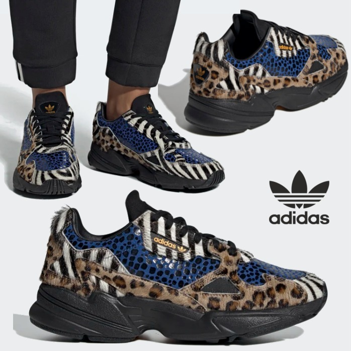 adidas FALCON 2019 20AW Zebra Patterns Leopard Patterns Rubber Sole Lace up